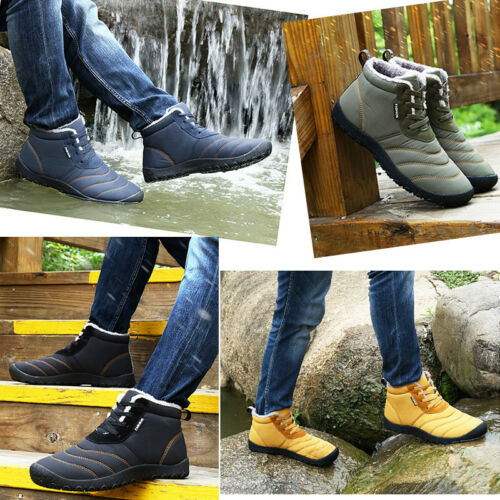 Купить Men's Winter Warm High-top Snow Boots With velvet Outdoor Sports Casual Shoes