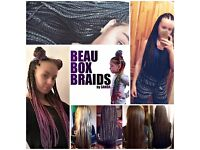 Hair extensions/box braids- caucasian hair only