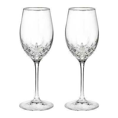 Pair of Waterford Crystal Lismore Essence White Wine Glasses *New in Box* on Rummage