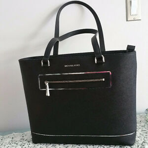 Authentic Michael Kors Jet Set Leather Tote