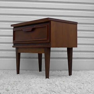 Pair of Mid Century Modern Walnut Night Stands