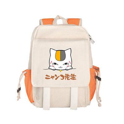 Anime Natsume's Book of Friends Canvas School Bag Outdoor Ba