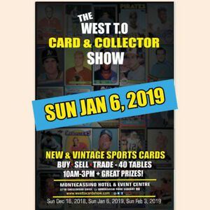 SUN JAN 6 - SPORTS CARDS SHOW | NEW VENUE! Hockey Baseball