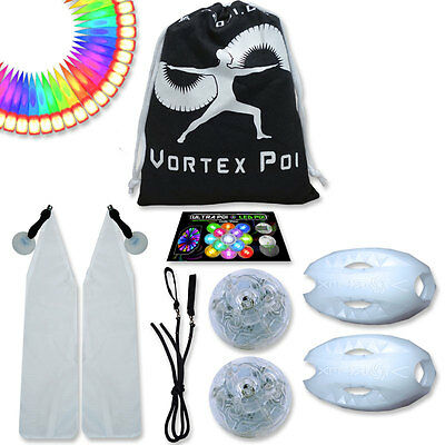Vortex Poi - UltraPoi Best Light Up Glow LED Poi Set - Flow Rave Dance Light (Best Light Up Toys)