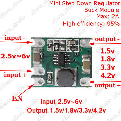 2a Dc-dc Buck Step-down Regulator Converter Output Voltage 1.5v 1.8v 3.3v 4.2v