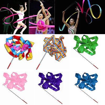 4M Dance Ribbon Gym Rhythmic Art Gymnastic Ballet Streamer Twirling Rod 10 Color - Dance Ribbon