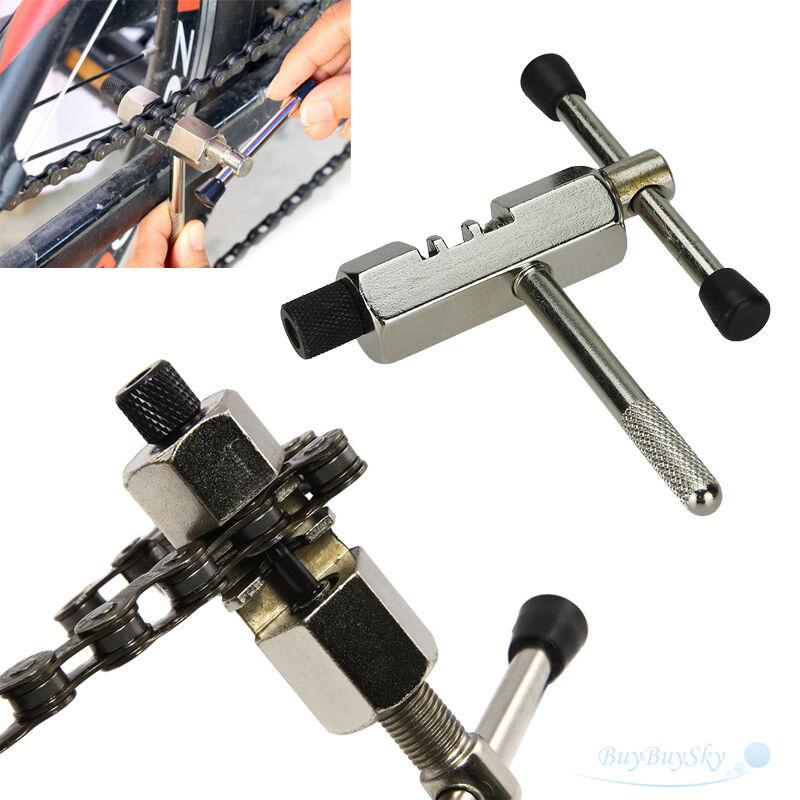 Bike Steel Chain Breaker Splitter Cutter Repair Tool Silver