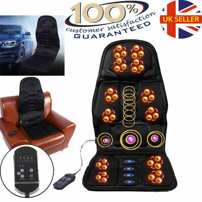 UK HEATED BACK SEAT REMOTE CONTROL MASSAGE CHAIR CAR HOME VAN RELAX CUSHION UR
