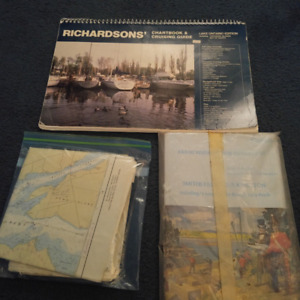 RICHARDSONS CHARTBOOK AND RIDEAU WATERWAY AND ST.LAWRENCE RIVER