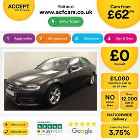 Grey AUDI A4 SALOON 1.8 2.0 TDI Diesel SPORTS LINE FROM £62 PER WEEK!