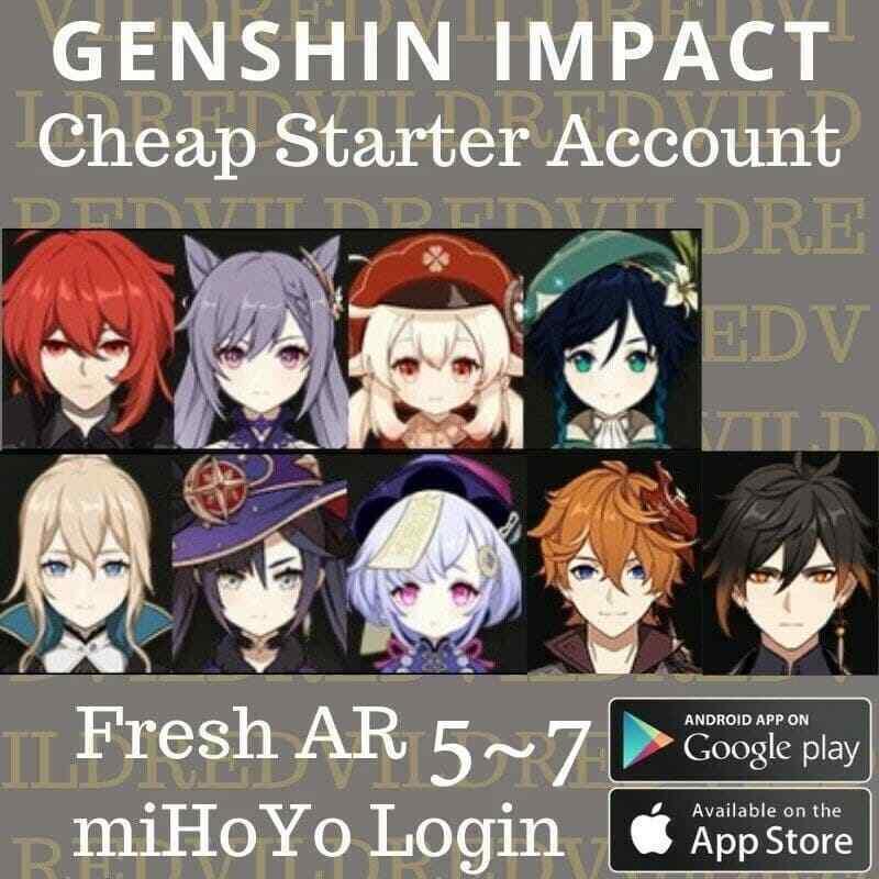 NA/EU Genshin Impact Starter! BEFORE BUYING contact IlKamikaze#5984 on discord