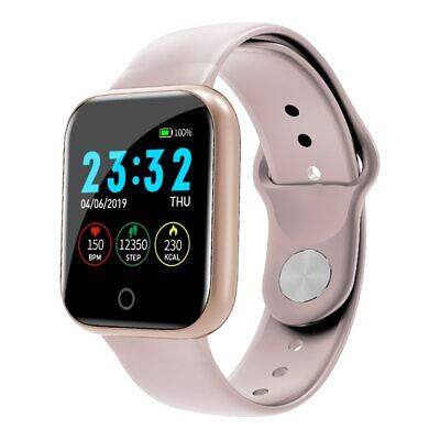 New Womens Lady Smart Watch Wrist Watches Heart Rate Bracelet Sports Pink Gift