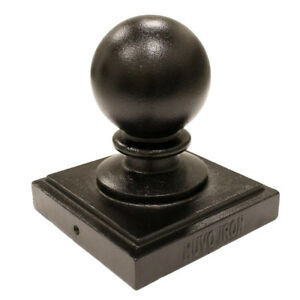 "Nuvo Iron 5.5"" x 5.5"" (Nominal 6"" x 6"") Ball Post Cap- Black"