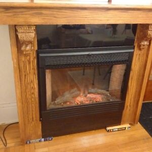 Electric Fireplace Solid Oak and black granite mantle Kingston Kingston Area image 7