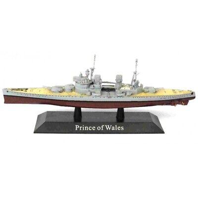 Prince of Wales Barco de Guerra 1:1250 Acorazado Diecast Agostini *47