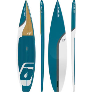 Level 6 SUP- 12.6 touring board in blue riviera/ bamboo instock