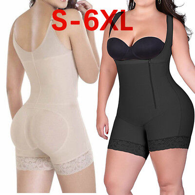 Fajas Reductoras Colombianas Post Surgery Full Body Shaper Slip Suit Powernet US