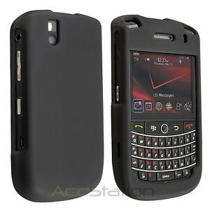 2x Black Rubber Hard Case Cover Accessory for Blackberry Bold 9650 Tour 9630 New
