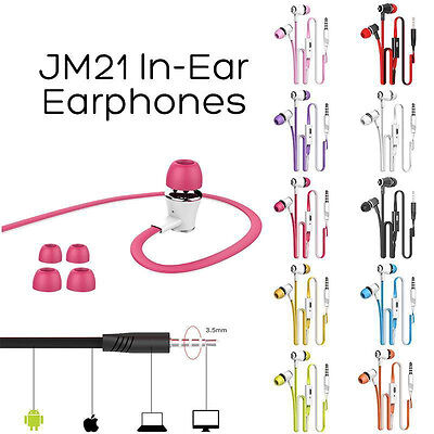 3.5mm In-Ear Earphones Headphones Noise Cancelling For iPhone Samsung Mp3 Mp4