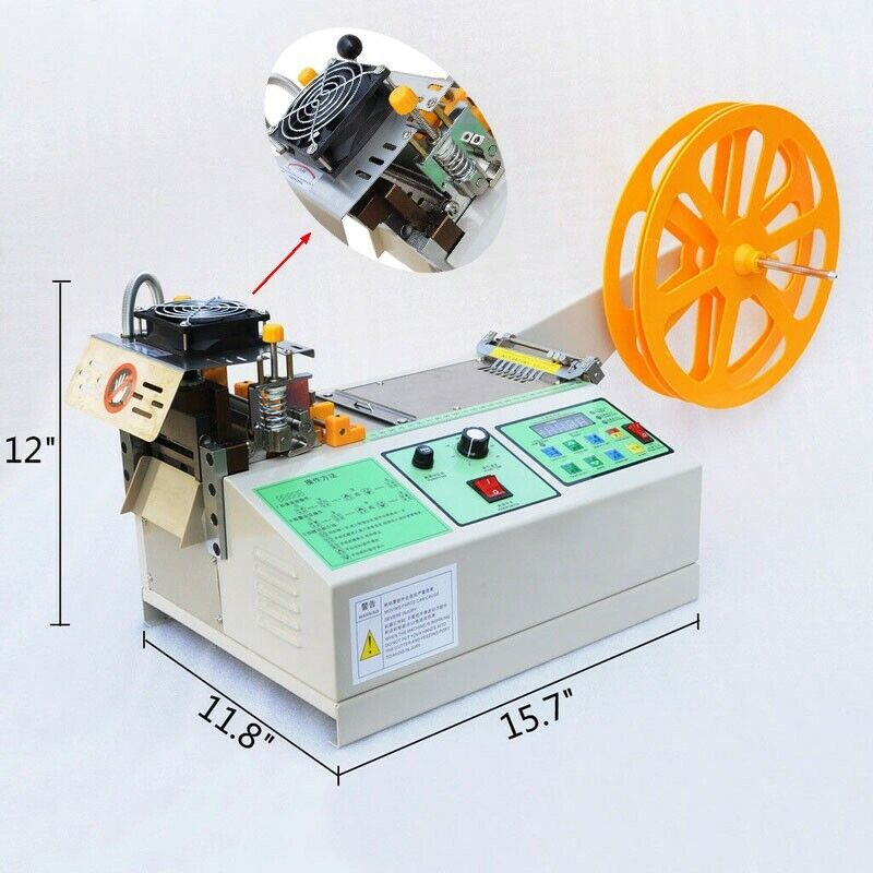 Auto Digital Belt Cutting Machine Hot and Cold Cut Slitter for Leather 110V