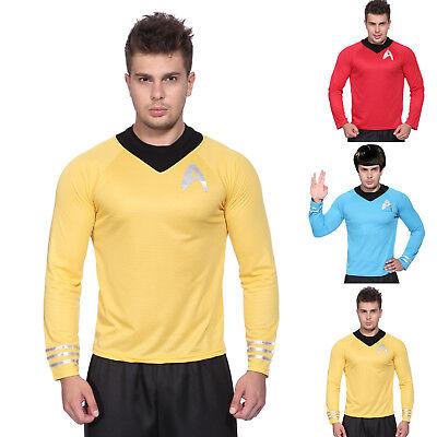 Star Trek Enterprise Männer Fun Langarm TShirt Uniform Kostüm Fasching - Star Trek Kostüm Männer