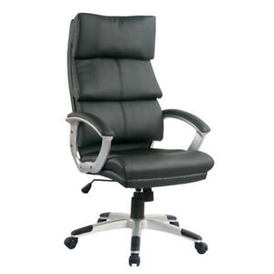 TygerClaw Executive High Back PU Leather Office Chair