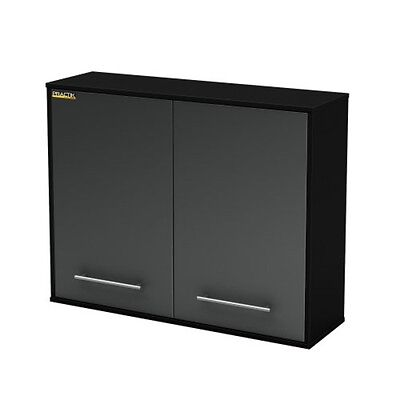 South Shore Karbon Collection Wall Storage Cabinet Pure Black 5227972 New