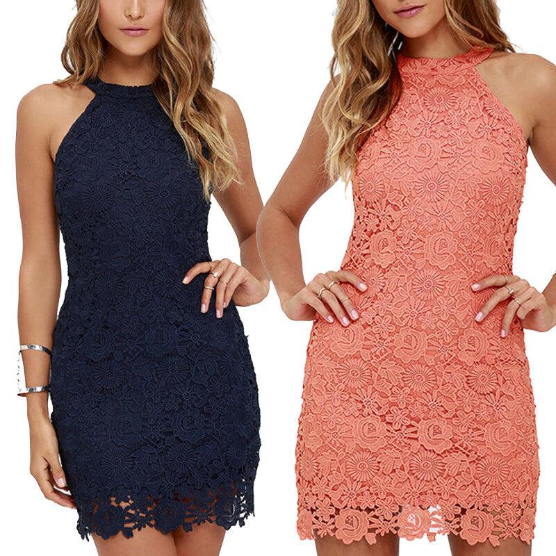 Details About Plus Size Women Sexy Embroidery Lace Bodycon Dress Beach Short Mini Dresses S 5x