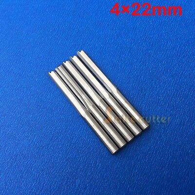 10pcs Double Flute Straight Slot Cnc Router Wood Bits Cutting Bit Shk 4mm 22mm