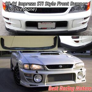 STi Style Front Bumper Lip (Urethane) Fits 99-01 Subaru Impreza