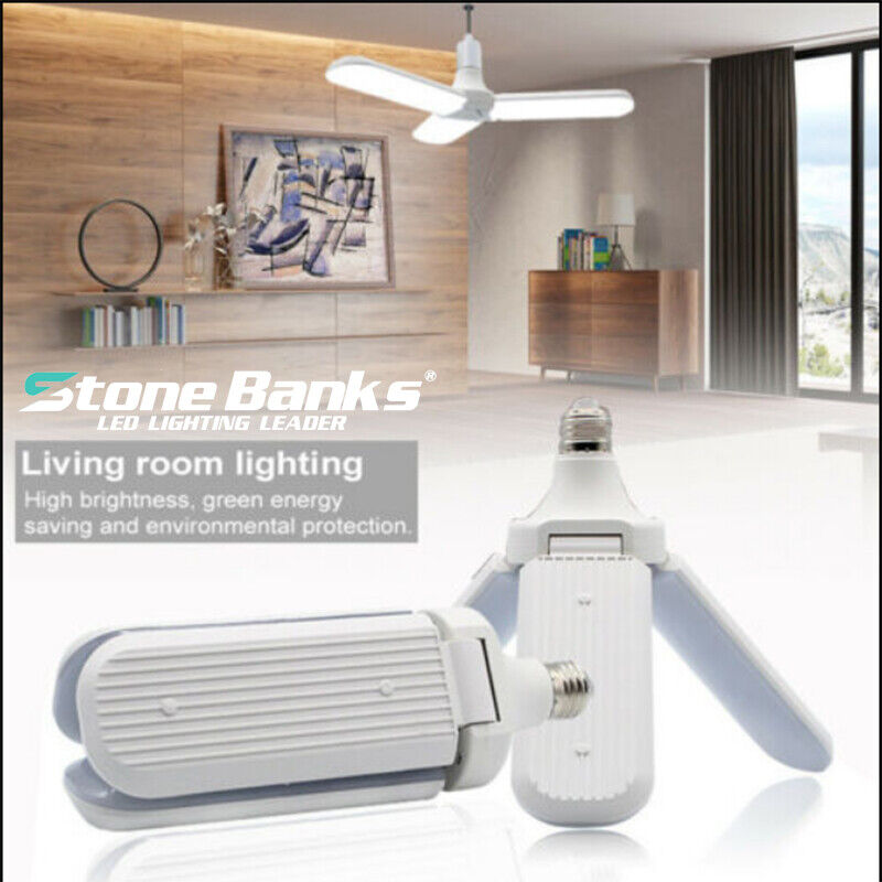 Deformable LED Garage Light Bulb E27 45W Foldable Ceiling Fi