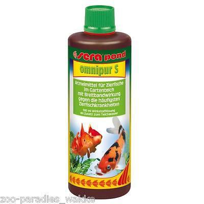 500 ml sera pond omnipur S gegen die häufigsten Teichzierfischkrankheiten Teich