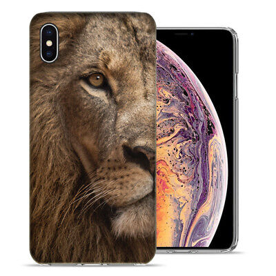 Apple iPhone XS Max 6.5 inch Lion Face Design Ultraslim Case Cover for sale  Shipping to India