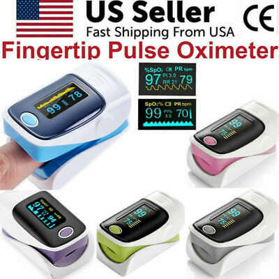 Oled Fingertip Pulse Oximeter Blood Oxygen Meter Spo2 Heart Rate Patient Monitor
