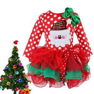 enfants b b rouge de filles santa lacets robe tutu tenues no l remplissage sac ebay. Black Bedroom Furniture Sets. Home Design Ideas