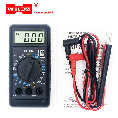 Dt182 Extra Mini Digital Lcd Ac Dc Probe Test Meter Ohm Ampere Voltmeter