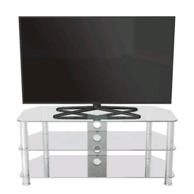 Brand New Glass & Chrome TV Stand. RRP £44.99