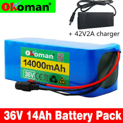 - 36V14AH Li-ion Battery Volt Rechargeable Bicycle 500W E Bike Electric + Charger