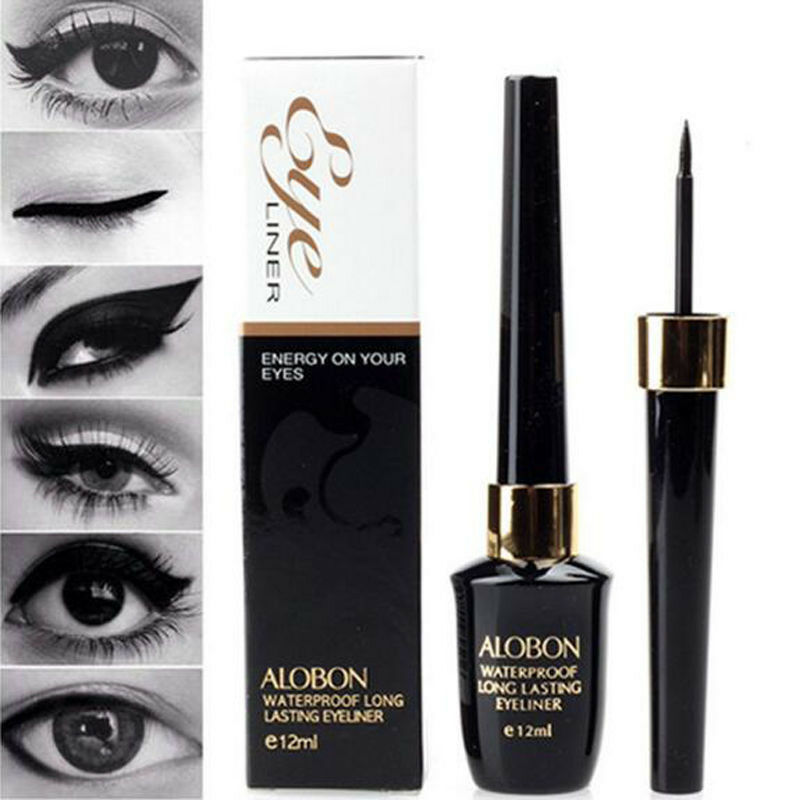 Cool Liquid Eyeliner Waterproof Eye Liner Pencil Pen Black Make Up Comestics Set Eyeliner