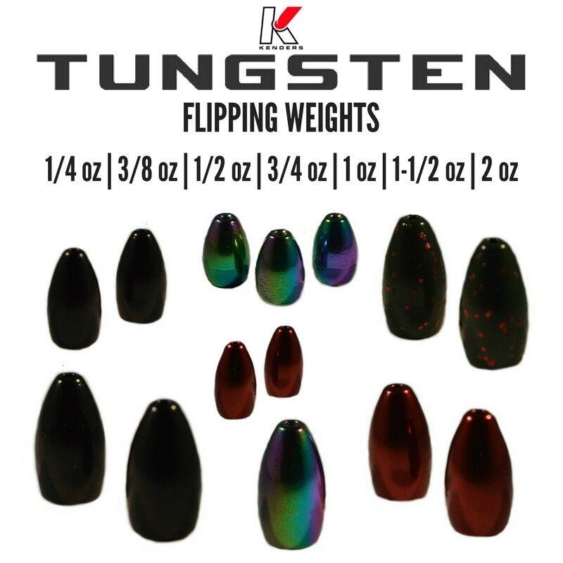 1//8oz  WATERMELOM RED tungsten worm weights 4 per pack