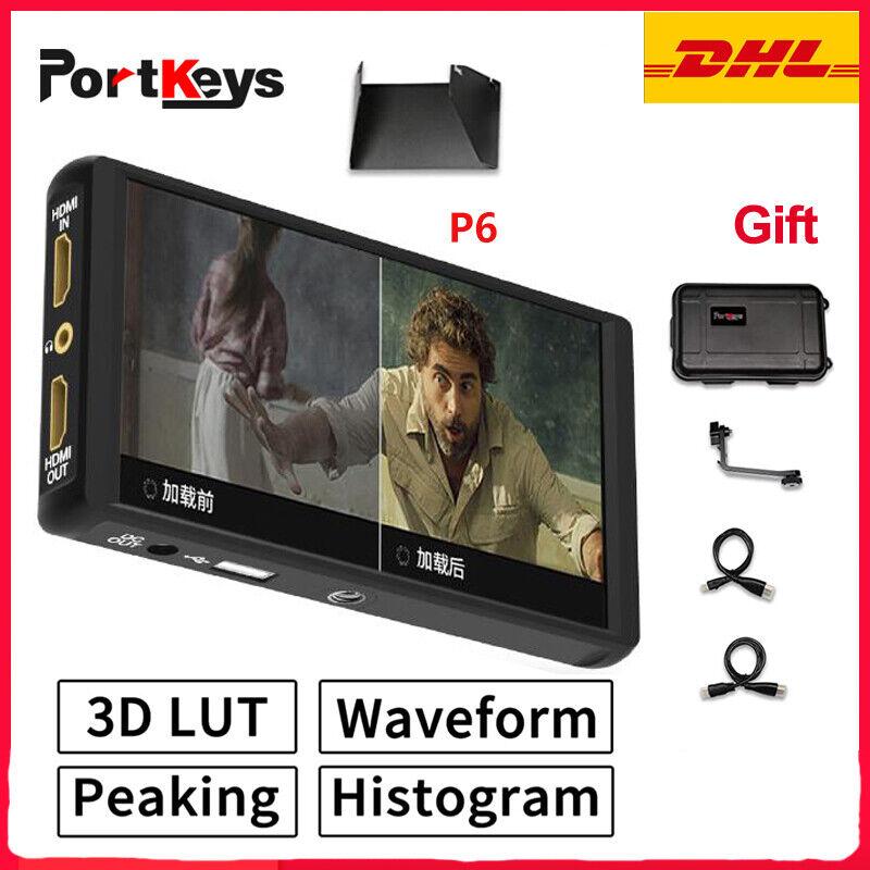 """NEW Portkeys P6 Monitor Thin Ultra-Narrow Bezel 5.5"""" IPS Camera Monitor 3D LUT"""