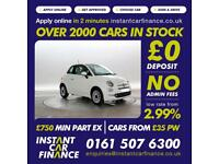 Fiat 500 1.2 ( 69bhp ) ( s/s ) Dualogic 2016MY LOUNGE FROM £48 PER WEEK