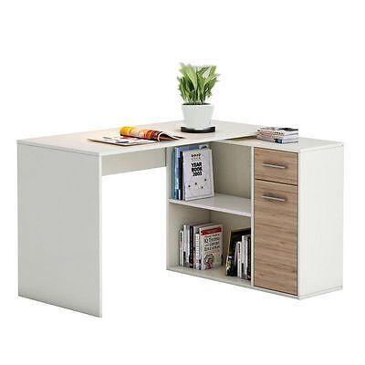 eckschreibtisch computer schreibtisch mit regal winkel b ro pc tisch jugend aea. Black Bedroom Furniture Sets. Home Design Ideas