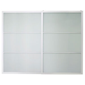 2 IKEA PAX Frosted Glass Sliding Doors