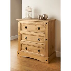 CORONA MEXICAN PINE 3 DRAWER CHEST