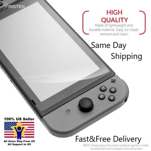 Ultra Clear LCD Screen Protector Silicone Adhesive Film for Nintendo Switch