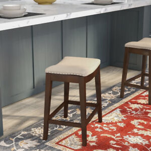 BRAND NEW Stylish Wooden Counter-height Bar Stool ($60)