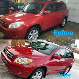 Vehicle paint correction and detailing