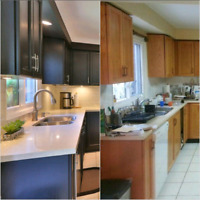 ▶ ▶⭐Kitchen Cabinets⭐Painting ⭐Staining⭐Countertop⭐Backsplash⭐▶