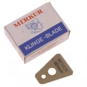MERKUR MOUSTACHE BEARD AND EYEBROW BLADES SHAVE WITH STYLE